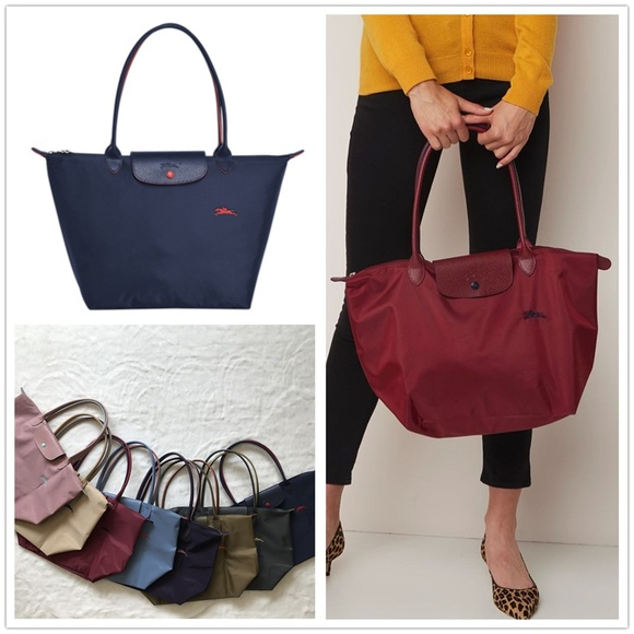 Longchamp Le Pliage Club Tote Red Large